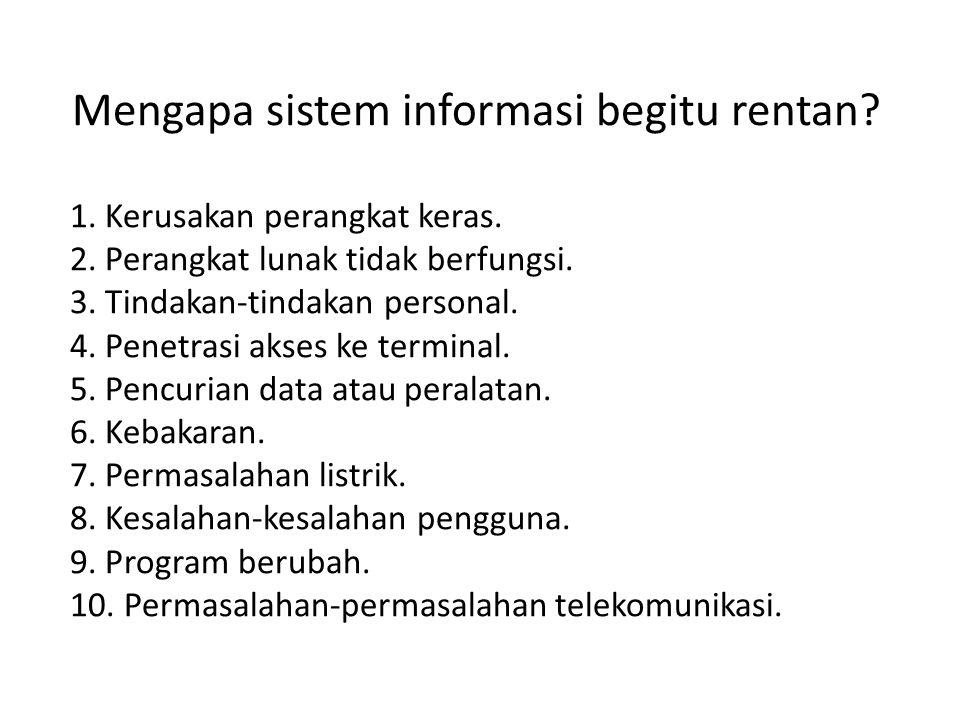 1.Bencana (disaster) untuk pencegahan atau meminimalkan dampak bencana: a.