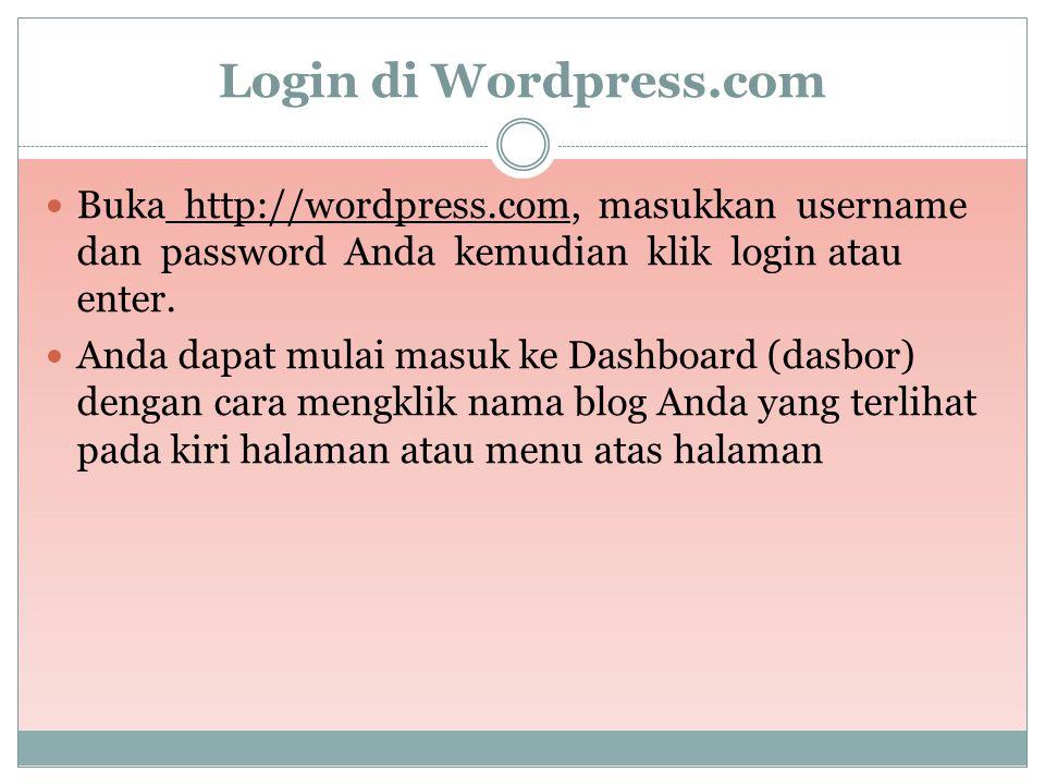  Jika username tersedia, selanjutnya isikan :  Blog Domain: Nama Blog.  Blog Title: tuliskan judul Blog Anda  Language: pilih bahasa  Privacy: be