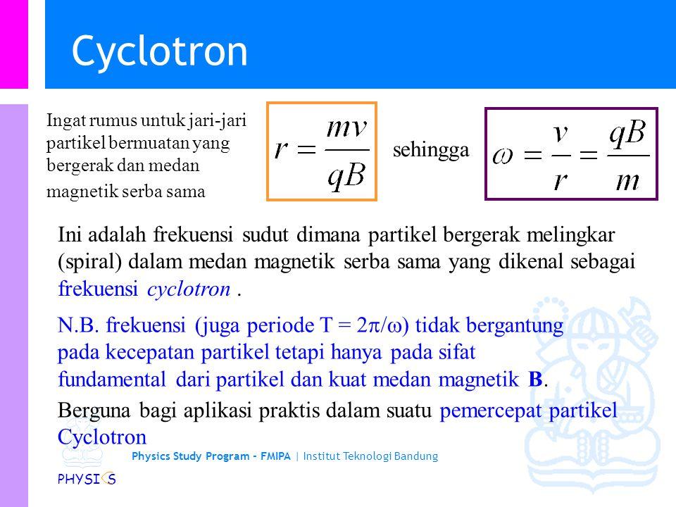 Physics Study Program - FMIPA   Institut Teknologi Bandung PHYSI S Gaya magnetik dari suatu loop arus melingkar