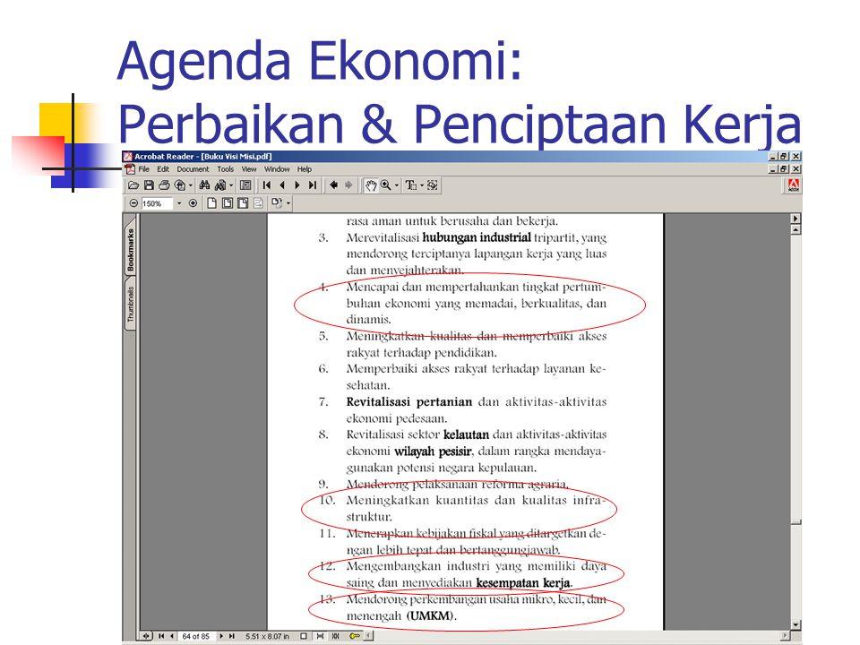 Agenda Ekonomi: Perbaikan & Penciptaan Kerja