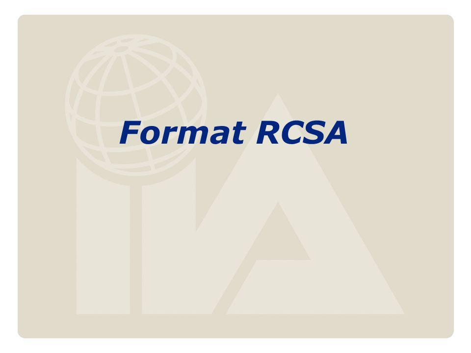 Format RCSA