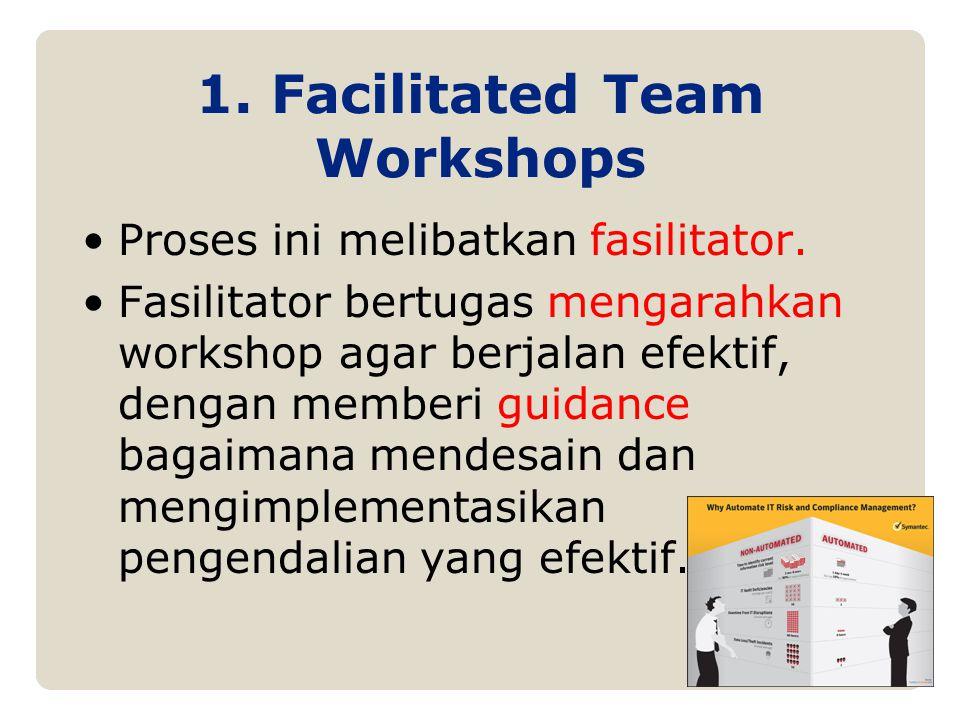 Proses ini melibatkan fasilitator. Fasilitator bertugas mengarahkan workshop agar berjalan efektif, dengan memberi guidance bagaimana mendesain dan me