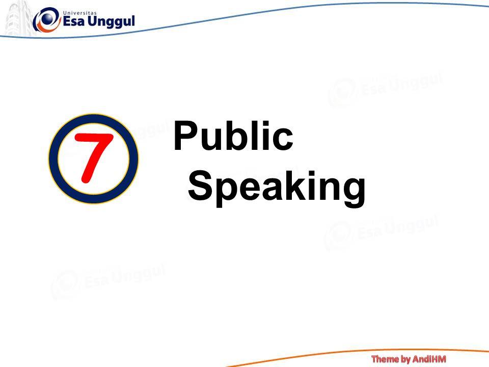 Public Speaking 7