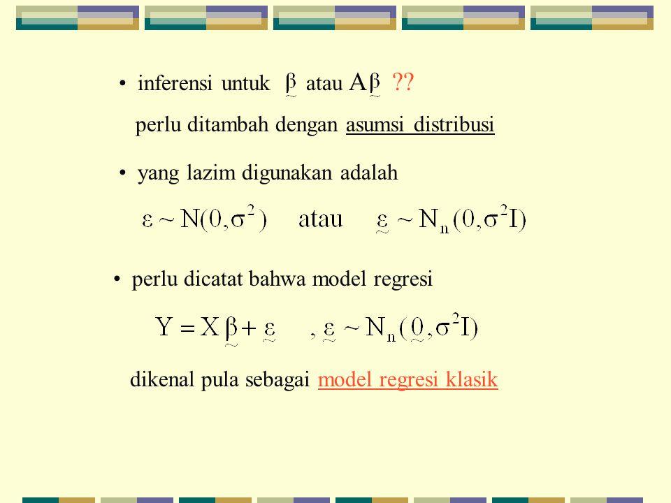 inferensi untuk atau A .
