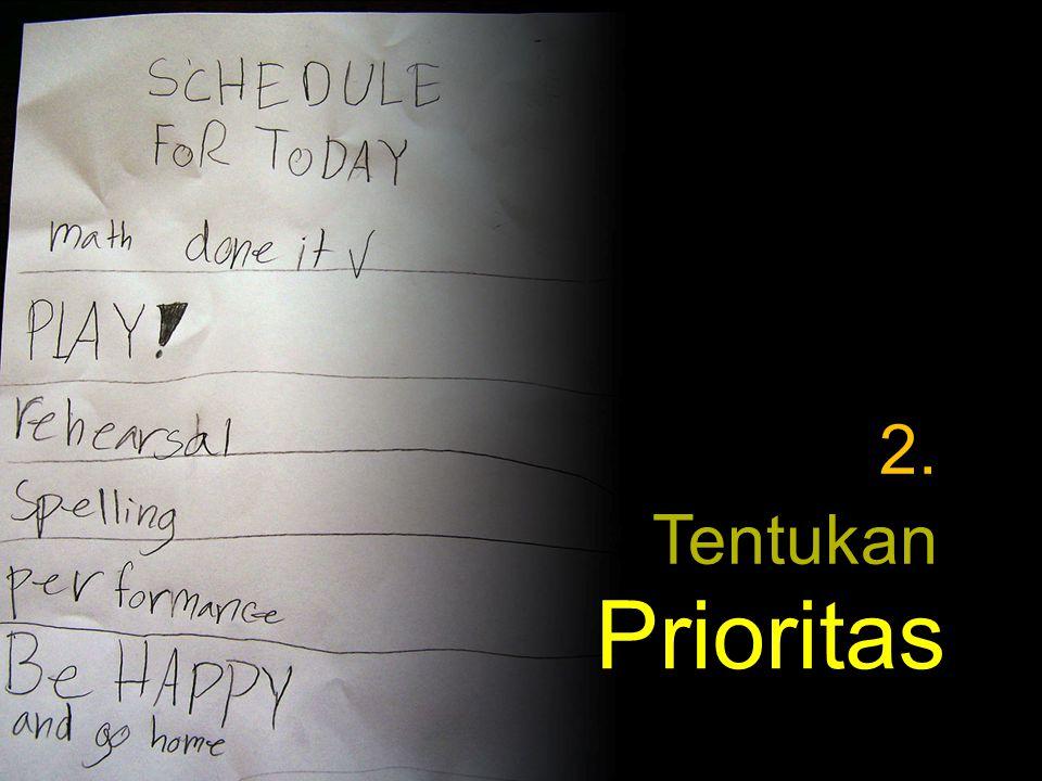 Tentukan Prioritas 2.