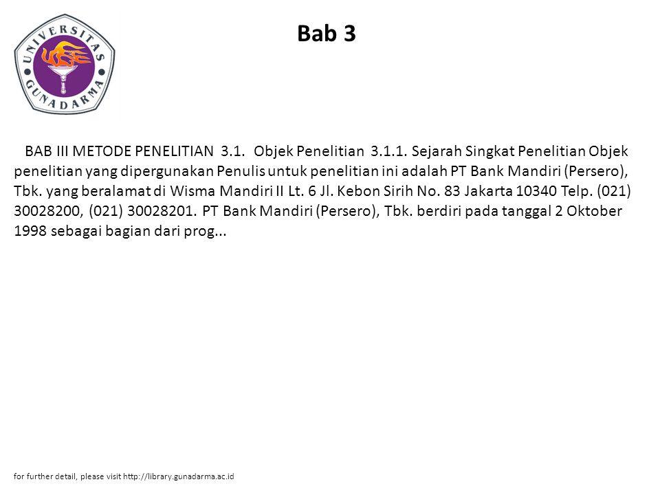 Bab 3 BAB III METODE PENELITIAN 3.1. Objek Penelitian 3.1.1.