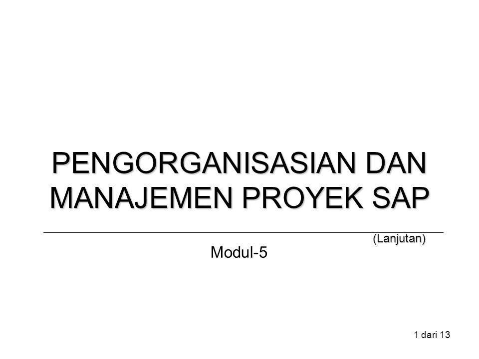 1 dari 13 PENGORGANISASIAN DAN MANAJEMEN PROYEK SAP (Lanjutan) Modul-5