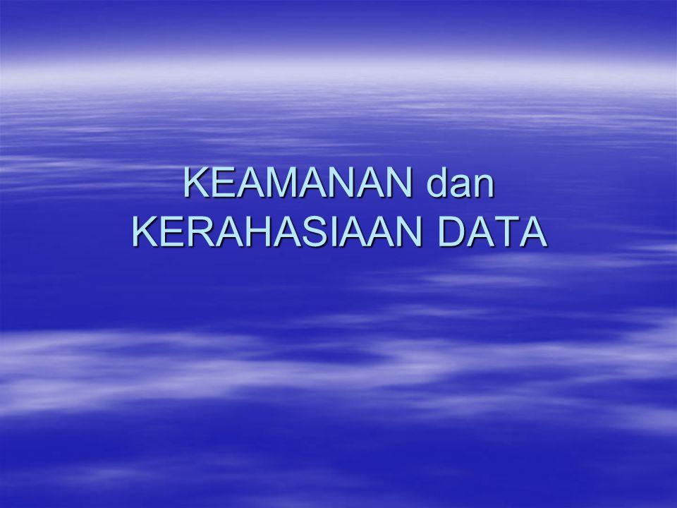 Tujuan –menjelaskan konsep keamanan dan kerahsiaan data dalam system keamanan computer, jaringan / internet –menjelaskan aspek yang terkait dengan permasalahan keamanan dan kerahasian data –menjelaskan aspek layanan keamanan komputer