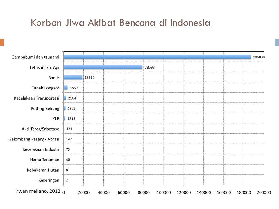 Korban Jiwa Akibat Bencana di Indonesia