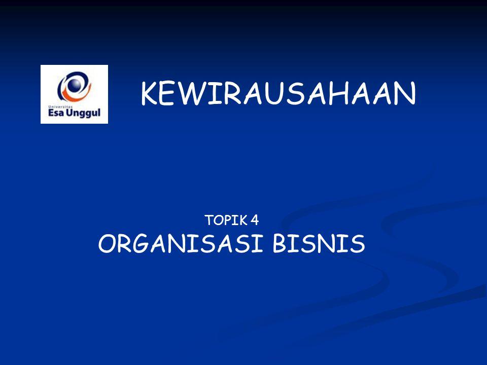 TOPIK 4 ORGANISASI BISNIS KEWIRAUSAHAAN