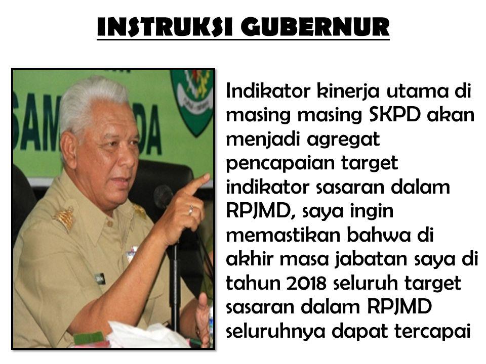 Indikator kinerja utama di masing masing SKPD akan menjadi agregat pencapaian target indikator sasaran dalam RPJMD, saya ingin memastikan bahwa di akh