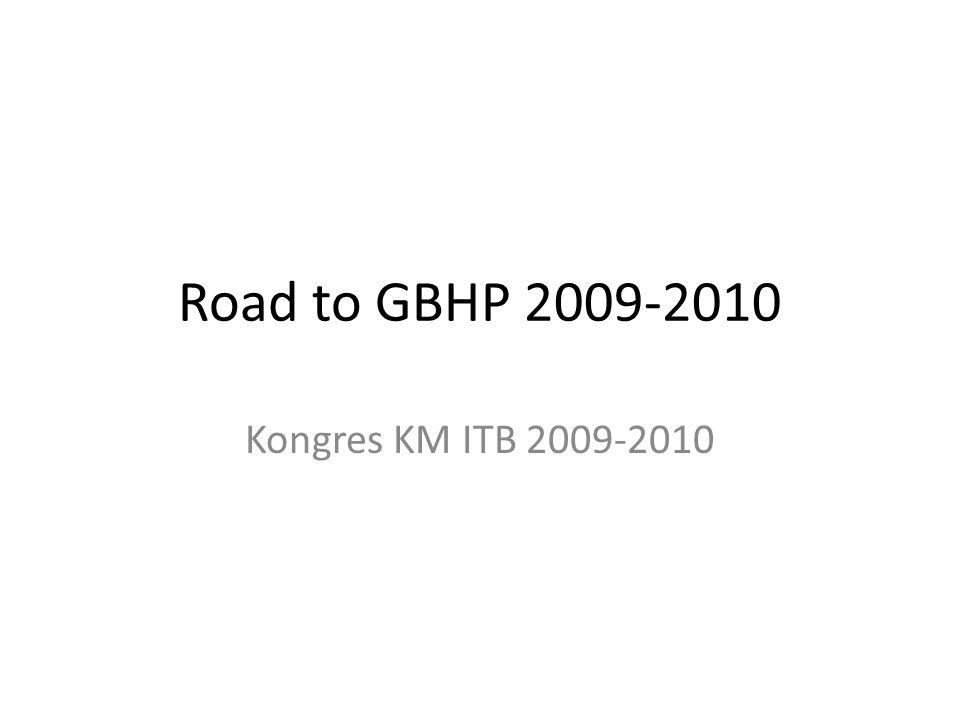 Senin 1 Juni 2009 Pengumpulan aspirasi GBHP dari tiap lembaga Merumuskan landasan bertindak yang akan dijadikan sebagai referensi pembuatan GBHP Landasanbertindak : – AD/ART ITB – UU BHP – Konsepsi – RUK – Tridharma Perguruan Tinggi – SKSA – LPJ Kabinet&MWA WM 2008-2009 – LPJ Kongres 2008-2009 – Proposal Be-U – Platform berkegiatan kabinet