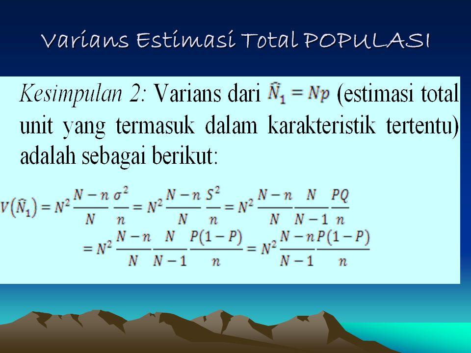 Varians Estimasi Total POPULASI