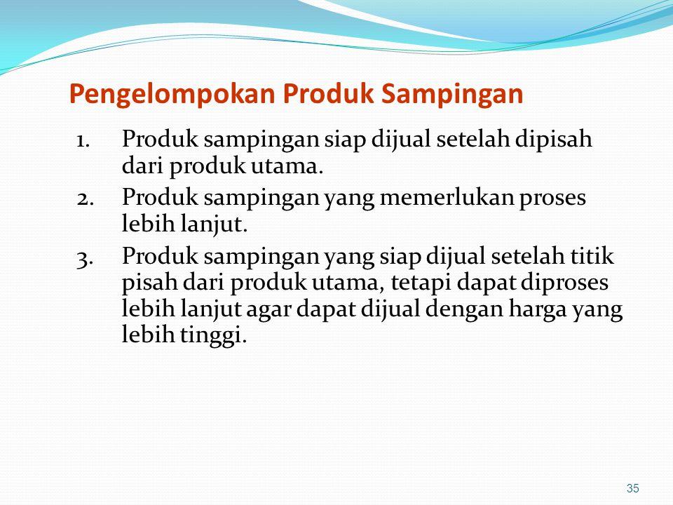 35 Pengelompokan Produk Sampingan 1.Produk sampingan siap dijual setelah dipisah dari produk utama.
