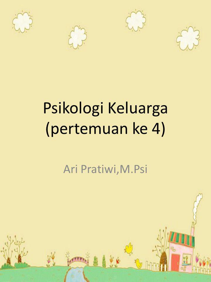 Psikologi Keluarga (pertemuan ke 4) Ari Pratiwi,M.Psi