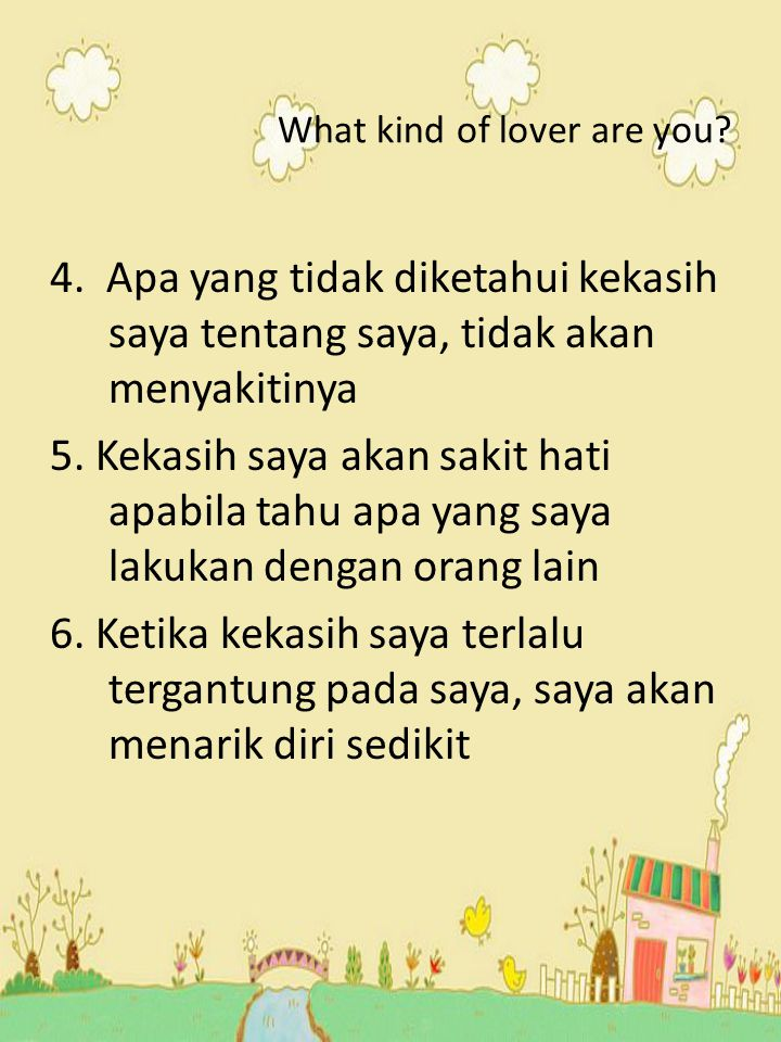 What kind of lover are you.4.