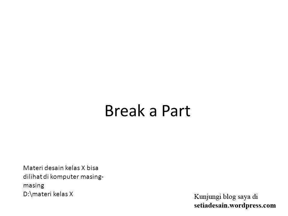 MATERI SEMESTER GENAP Ungroup dan Break Apart.