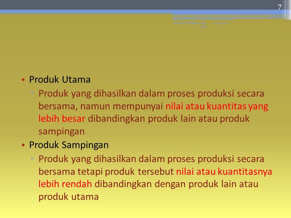 Contoh : ▫Penggilingan padi: beras dan dedak ▫Penyilangan minyak bumi: minyak bumi dan aspal 11/24/2012Resista Vikaliana, S.Si.