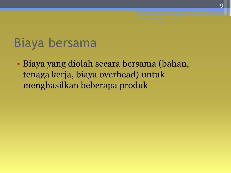 Referensi ▫Bastian Bustami dan Nurlela, AKUNTANSI BIAYA, Penerbit Mitra Wacana Media, Jakarta, 2010 Bahan Ajar Mata Kuliah Akuntansi Biaya Aryanto Nur, 2013 11/24/2012Resista Vikaliana, S.Si.
