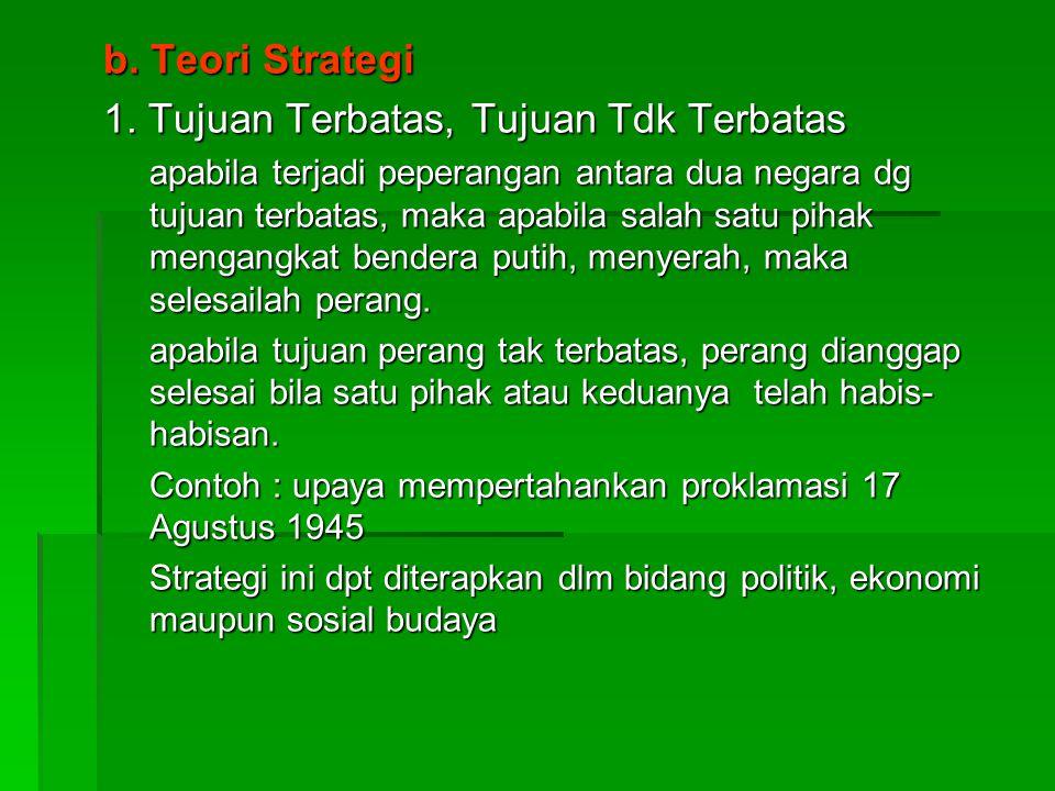 b.Teori Strategi 1.
