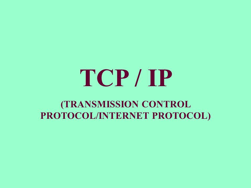 TCP/IP merupakan Protokol yang sering digunakan dalam Jaringan TCP/IP merupakan sekumpulan Protokol yang mengatur KOMUNIKASI DATA di Internet.