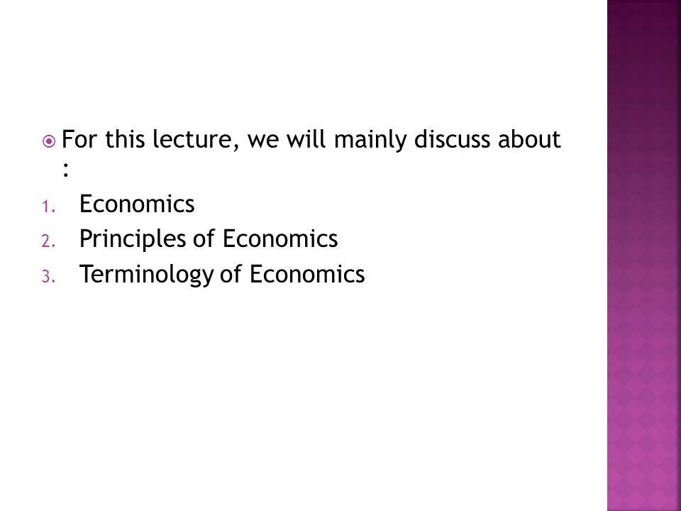 Apa itu Ekonomi???
