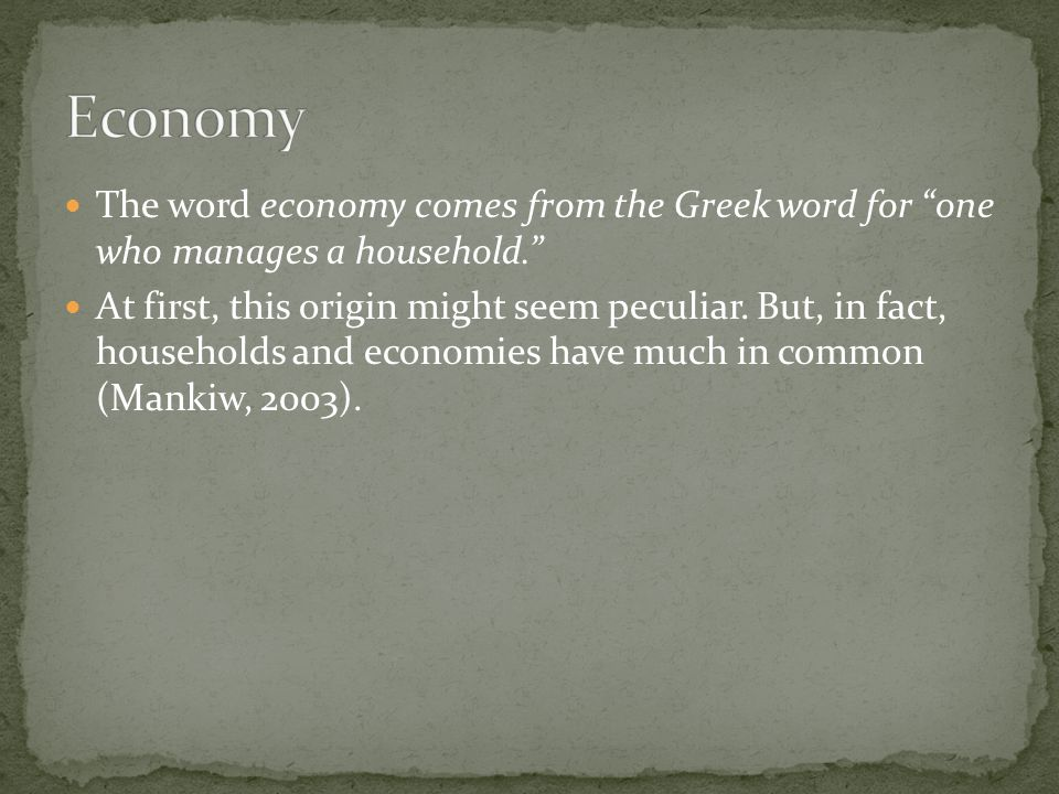 Micro Economy Macro Economy Microeconomics looks at the individual unit—the household, the firm, the industry.