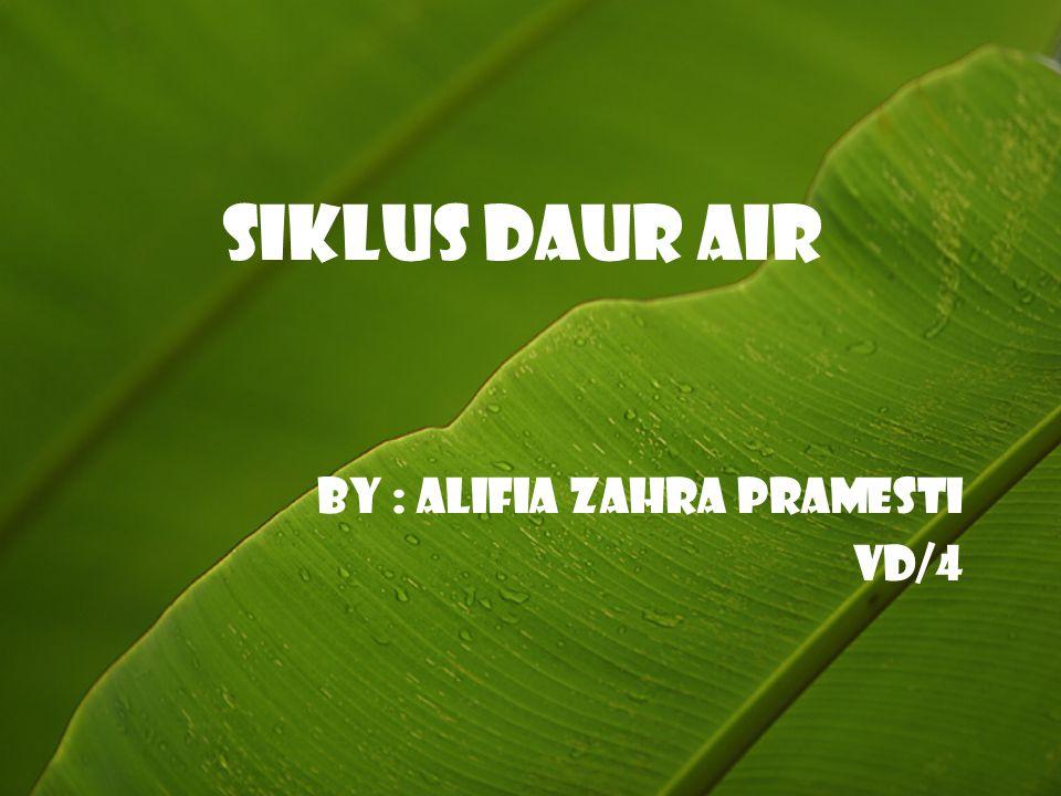 Siklus Daur Air By : Alifia Zahra Pramesti VD/4