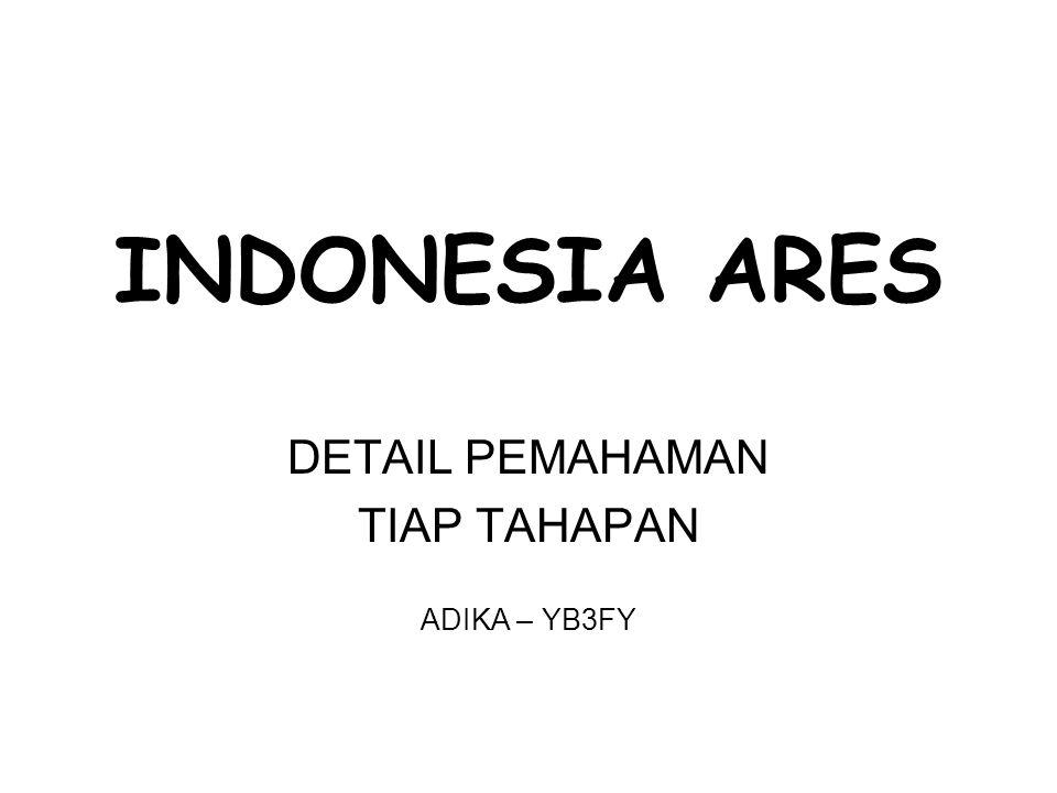 INDONESIA ARES DETAIL PEMAHAMAN TIAP TAHAPAN ADIKA – YB3FY