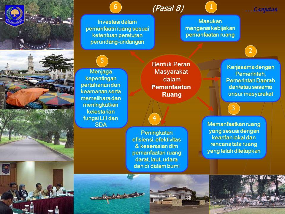 Bentuk Peran Masyarakat dalam Pemanfaatan Ruang Menjaga kepentingan pertahanan dan keamanan serta memelihara dan meningkatkan kelestarian fungsi LH da