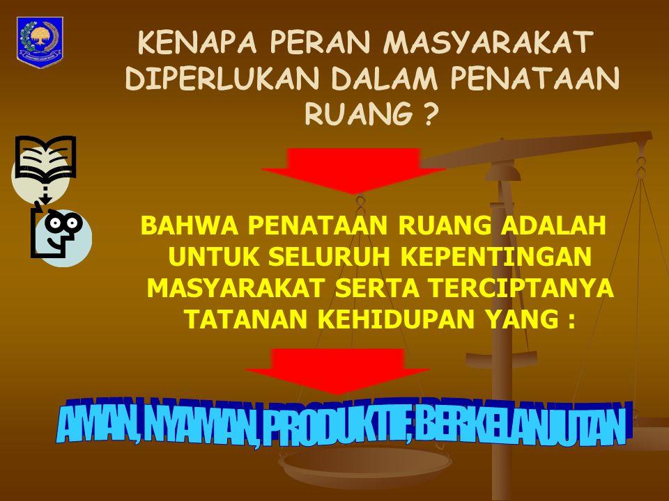 KETENTUAN PENUTUP (Pasal 28) Pada saat Peraturan Pemerintah ini mulai berlaku, Peraturan Pemerintah Nomor 69 Tahun 1996 tentang Pelaksanaan Hak dan Kewajiban, Serta Bentuk Dan Tata Cara Peran Serta Masyarakat Dalam Penataan Ruang (Lembaran Negara Republik Indonesia Tahun 1996 Nomor 104, Tambahan Lembaran Negara Republik Indonesia Nomor 3660) dicabut dan dinyatakan tidak berlaku.