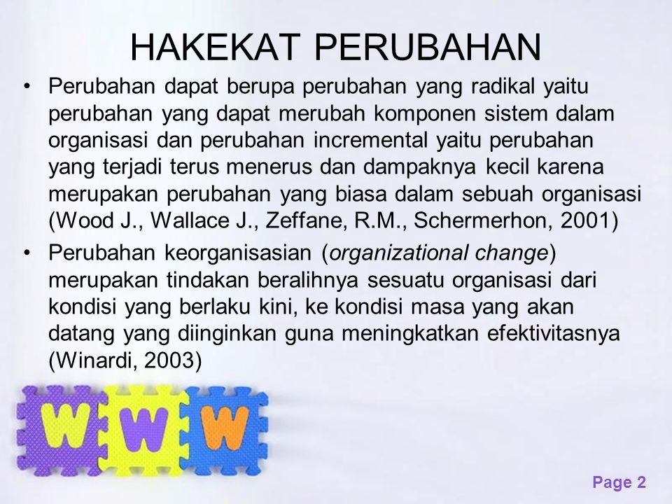 Page 13 13 Nilai-Nilai yang mendasari dalam Upaya Pengembangan Organisasi 1.