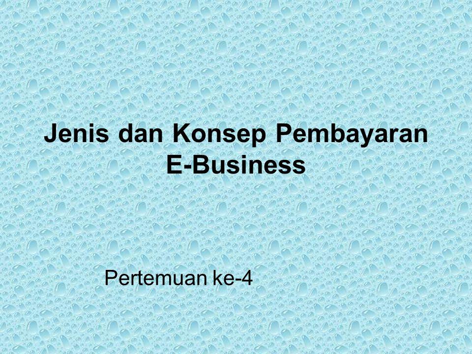 Jenis dan Konsep Pembayaran E-Business Pertemuan ke-4