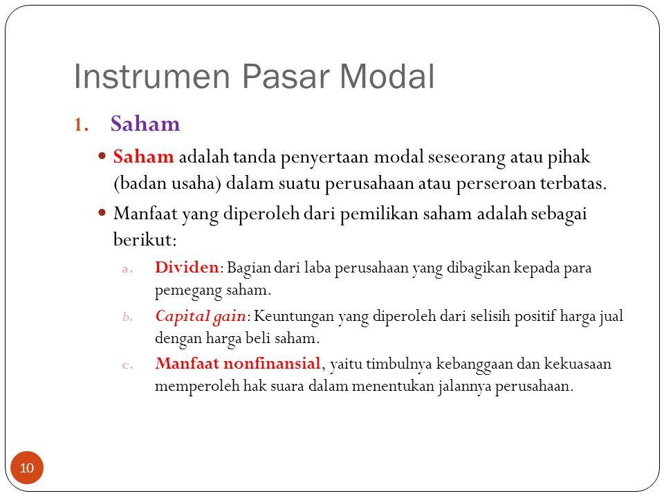 Instrumen Pasar Modal 10 1.