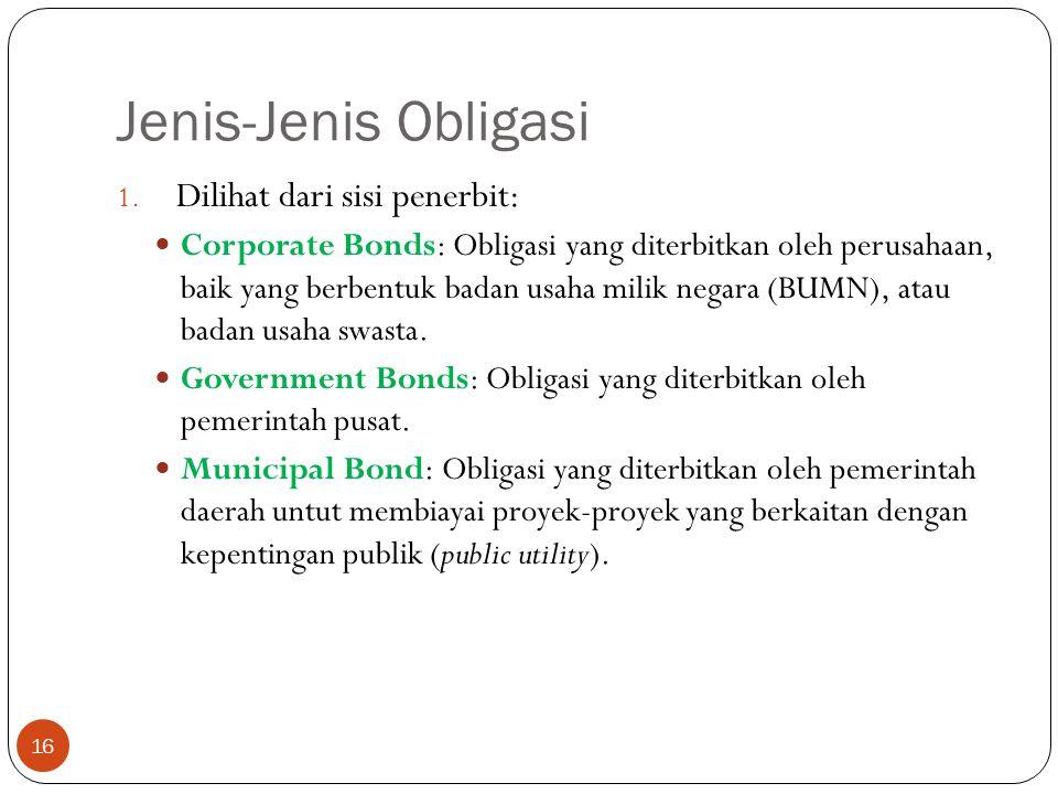 Jenis-Jenis Obligasi 16 1.