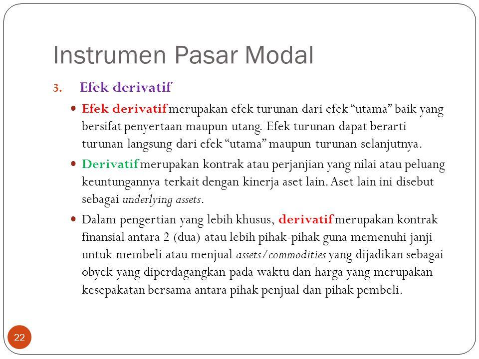 Instrumen Pasar Modal 22 3.