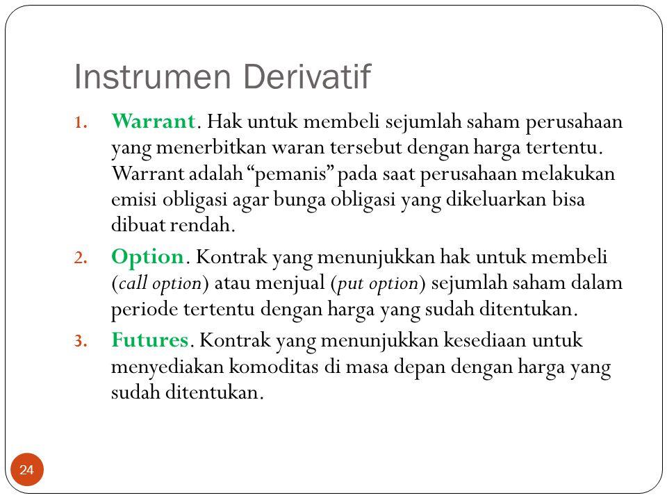 Instrumen Derivatif 24 1.Warrant.