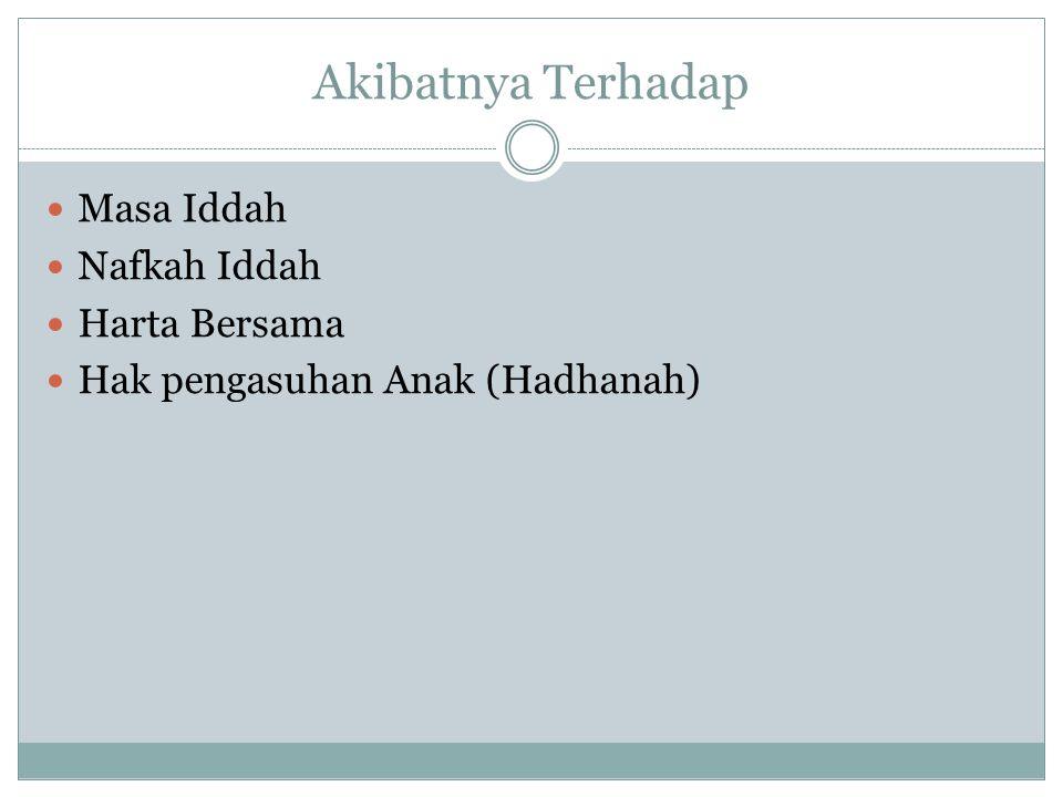 Arti Kata 'Iddah: a.
