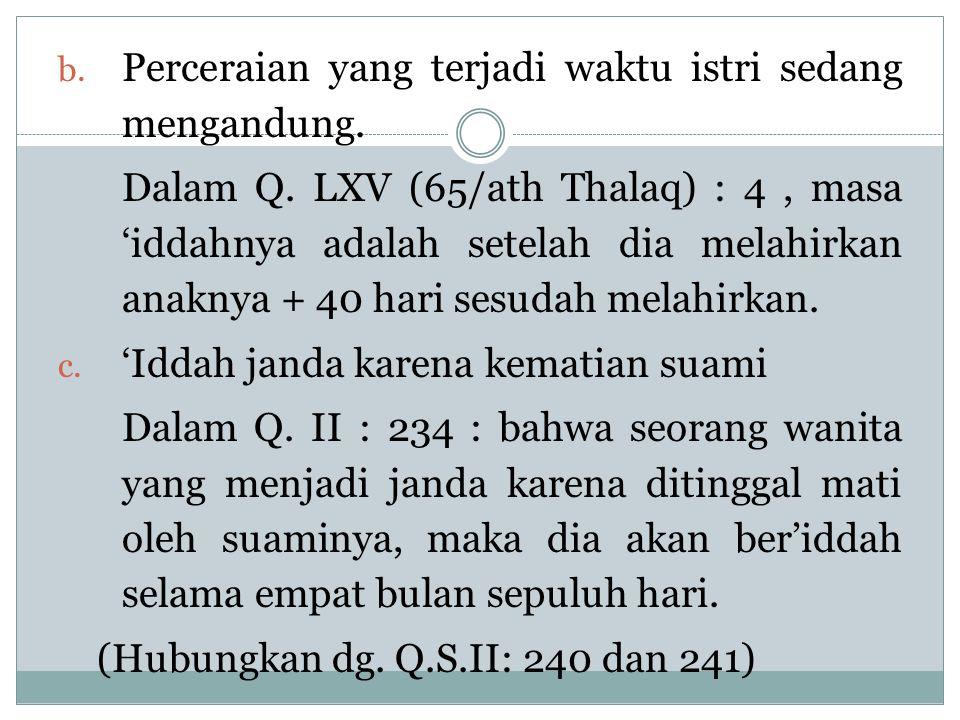 1.Biaya Kehidupan Istri yang Telah Ditalaq Q.