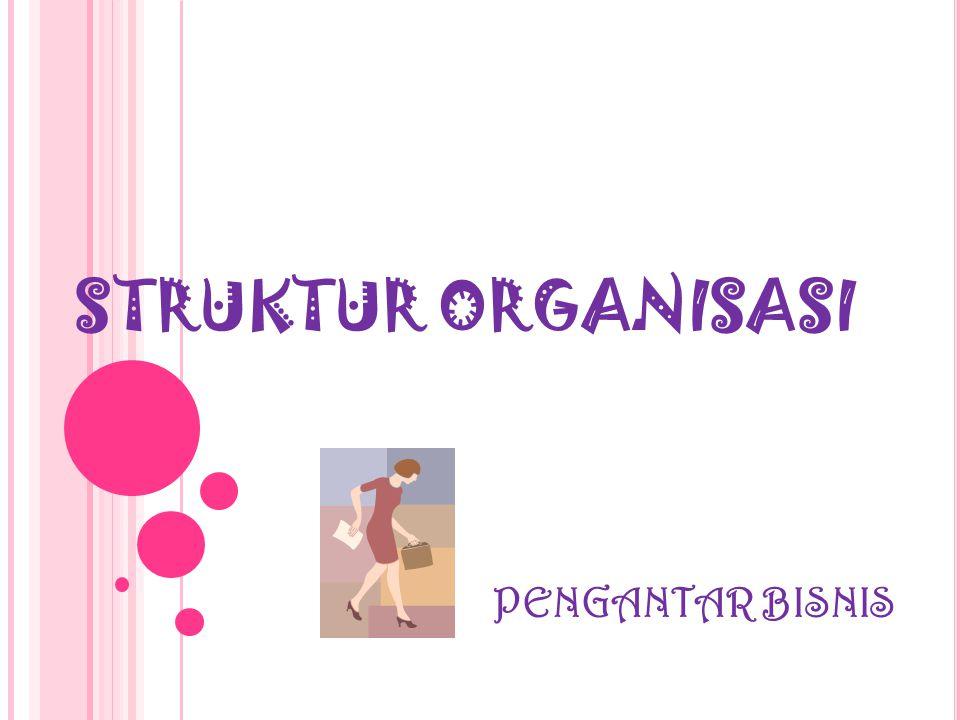 STRUKTUR ORGANISASI PENGANTAR BISNIS