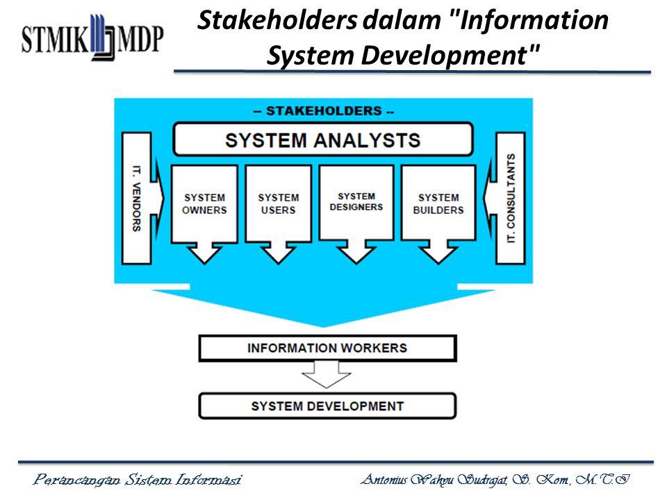 Perancangan Sistem Informasi Antonius Wahyu Sudrajat, S. Kom., M.T.I Stakeholders dalam
