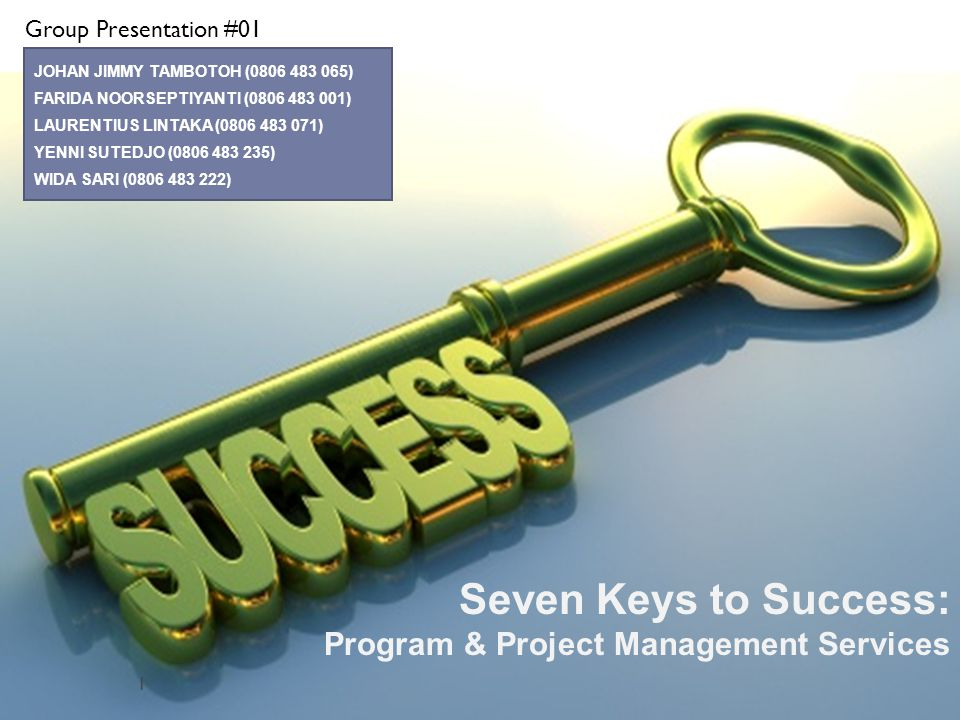 Seven Keys to Success22