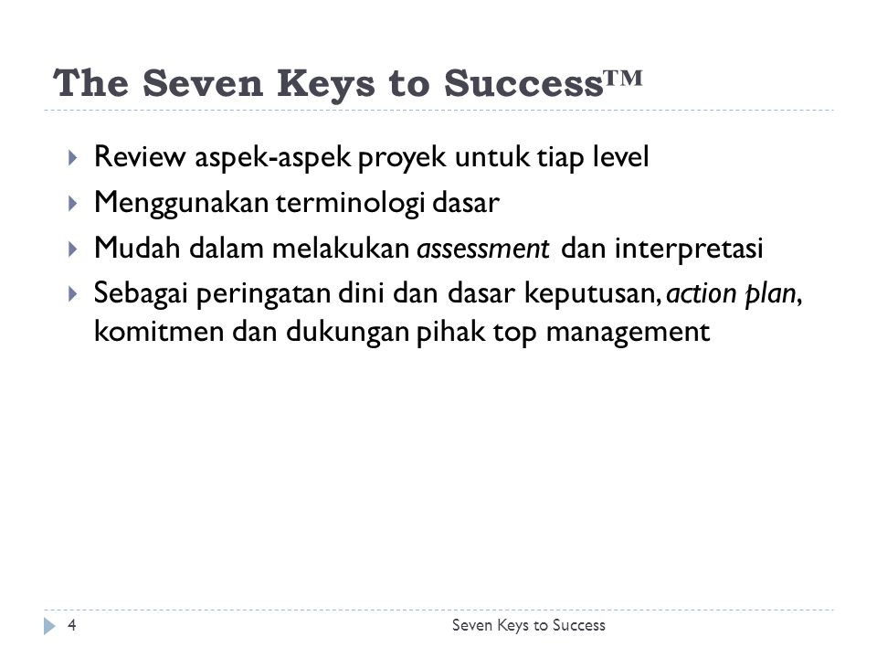 Action Seven Keys to Success25
