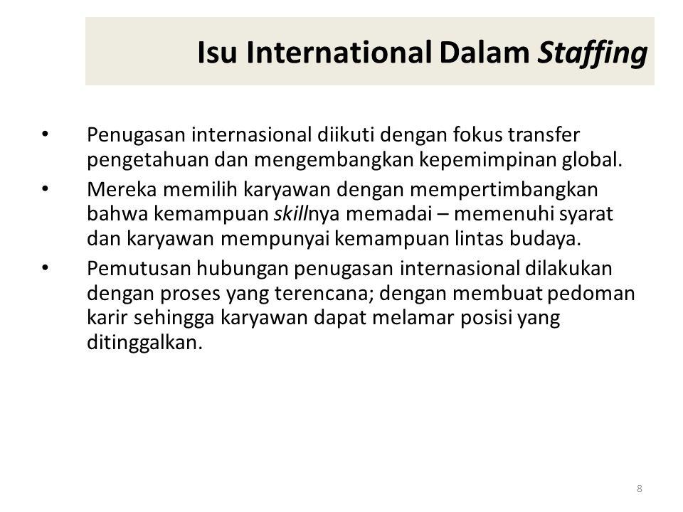 8 Isu International Dalam Staffing Penugasan internasional diikuti dengan fokus transfer pengetahuan dan mengembangkan kepemimpinan global.