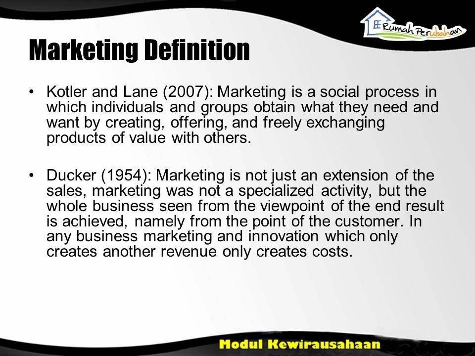 Marketing : Goods, Services, and Ideas Pemasaran Consumer Goods (Barang Konsumen) yaitu produk yang dibeli untuk penggunaan pribadi.