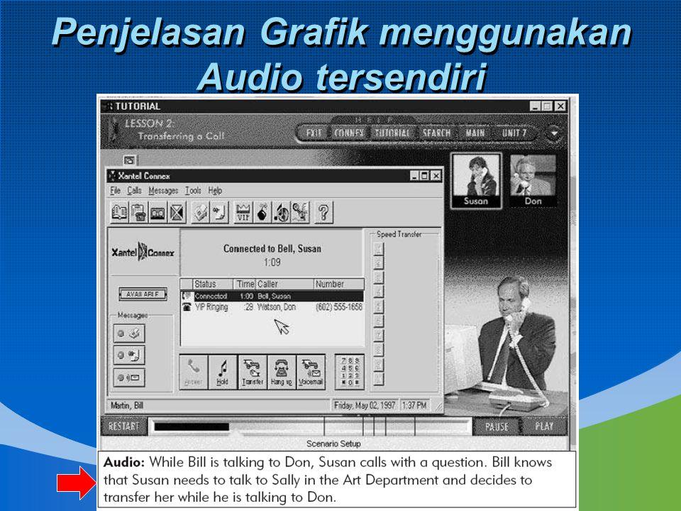 Penjelasan Grafik menggunakan Audio tersendiri