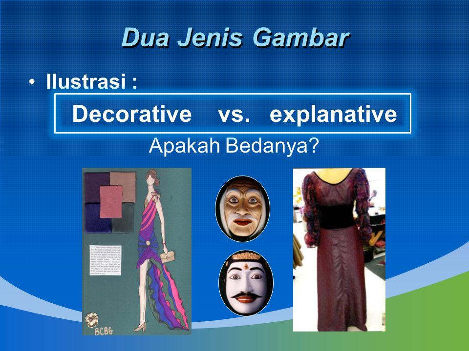 Dua Jenis Gambar Ilustrasi : Decorative vs. explanative Apakah Bedanya?