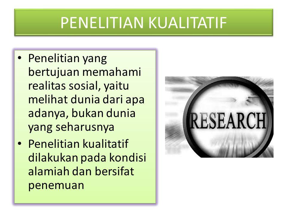 POPULASI DAN SAMPEL DALAM PENELITIAN KUALITATIF Teknik sampling dalam penelitian kualitatif berbeda dengan penelitian kuantitatif Dalam penelitian kuantitatif, sampel dipilih dari suatu populasi sehingga dapat digunakan untuk melakukan generalisasi Sedangkan dalam penelitian kualitatif, yang dimaksud dengan sampling adlah menjaring sebanyak- banyaknya informasi dari berbagai macam sumber.