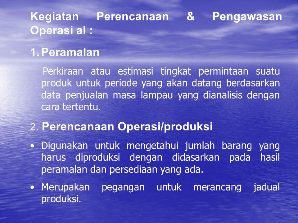 1.Peramalan Perkiraan atau estimasi tingkat permintaan suatu produk untuk periode yang akan datang berdasarkan data penjualan masa lampau yang dianali