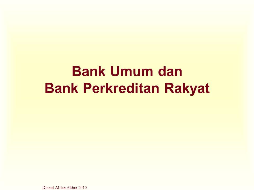 Dinnul Alfian Akbar 2010 Bank Umum dan Bank Perkreditan Rakyat